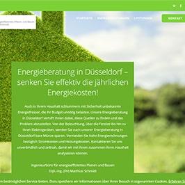 OnePager Referenz Energieberatungen Düsseldorf