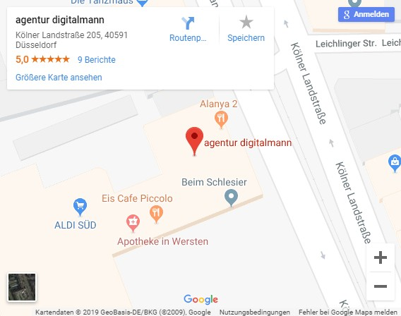 Google Maps agentur digitalmann