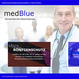 Homepage Referenz medBlue GmbH, Fürth