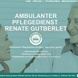 Homepage Referenz Pflegedienst Gutberlet, Bad Vilbel