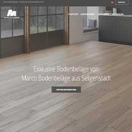 Homepage Referenz Marco Bodenbeläge, Seligenstadt