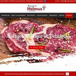Webdesign Referenz Metzgerei Helmus, Betzdorf