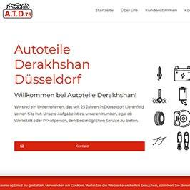 Homepage Referenz ATD76, Düsseldorf