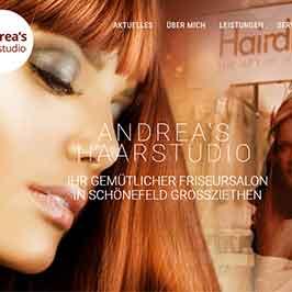 Webdesign Referenz Andrea's Haarstudio, Schönefeld