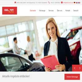 Webdesign Referenz BelAir Auto GmbH, Düsseldorf