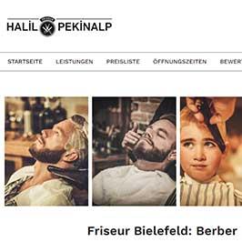 Webdesign Referenz Friseur Bielefeld, Berber Halil