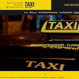 Webdesign für Taxiunternehmen